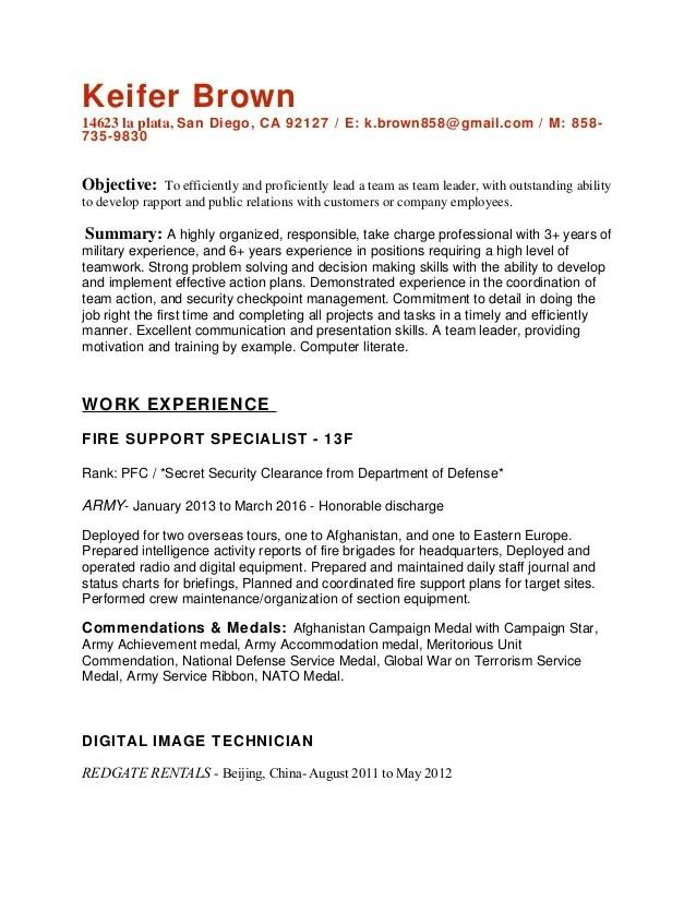 resume objective team leader credit information form of union