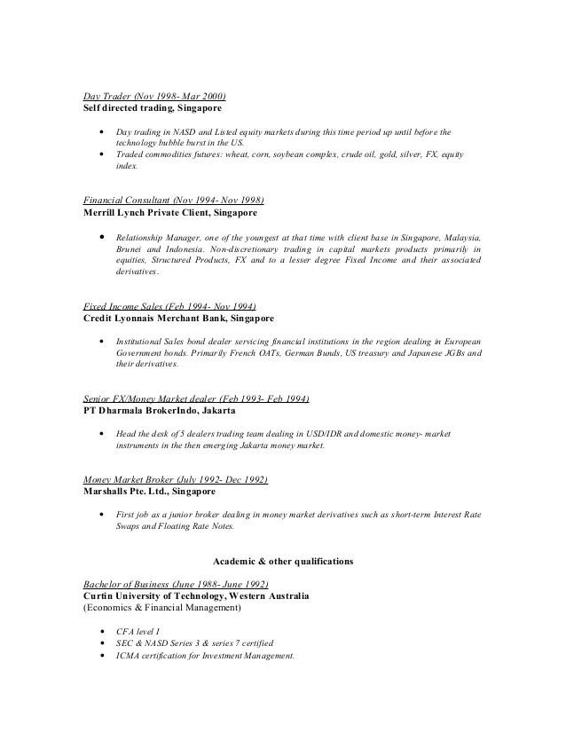 day trader resume - Apmayssconstruction