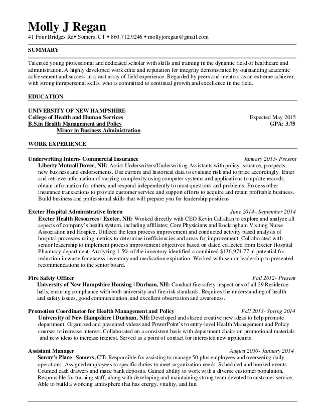 young professional on resume