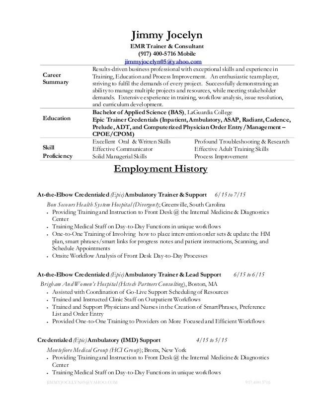 emr resume - Yelommyphonecompany - ticket collector sample resume