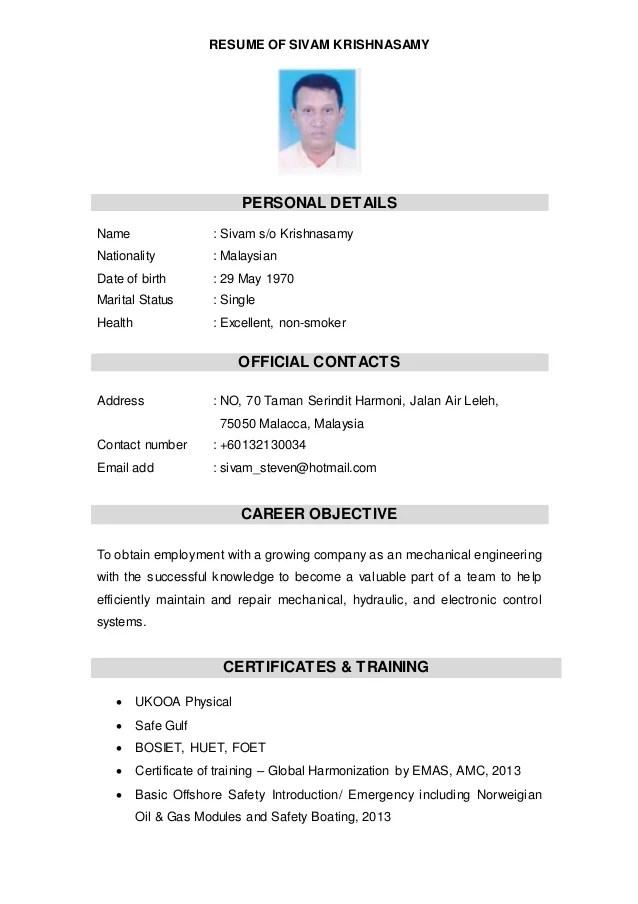 malaysia use resume or cv