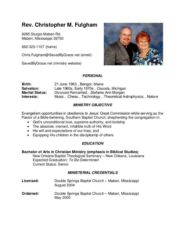 sample pastor resume wwwmakemoneywithalextk southern baptist pastors resumes - Sample Pastoral Resume