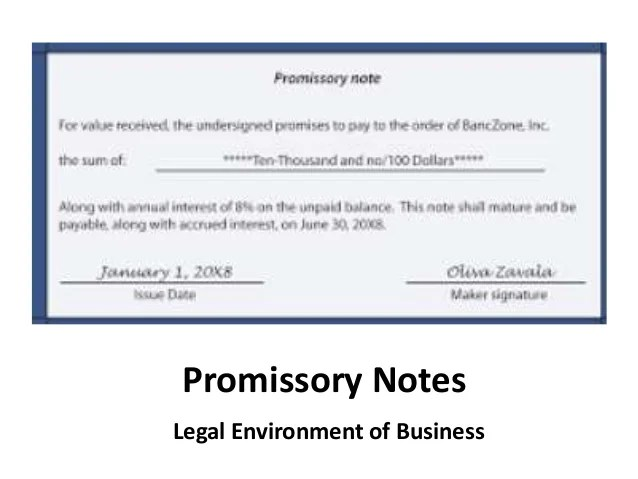 promissory note form pdf - Onwebioinnovate