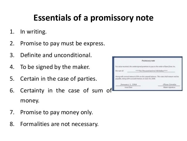 promise note - Onwebioinnovate - promissory notes