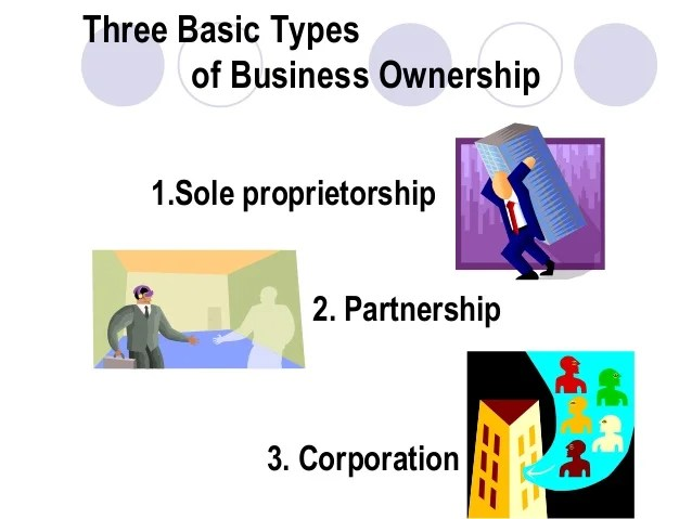 what are the three types of business ownership