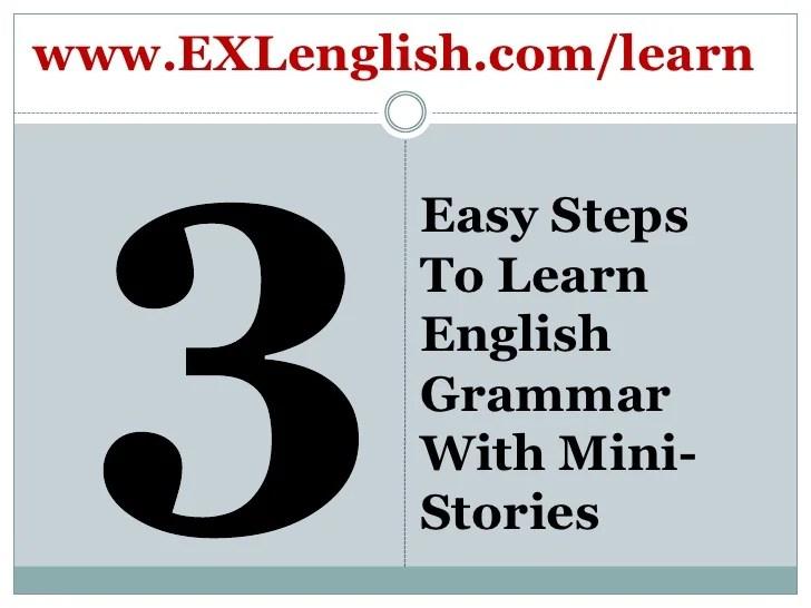 Easy To Learn English Grammar