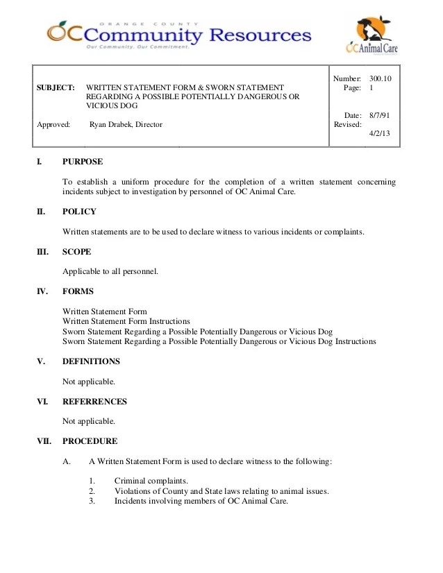 sworn statement template - Onwebioinnovate - sworn statement templates