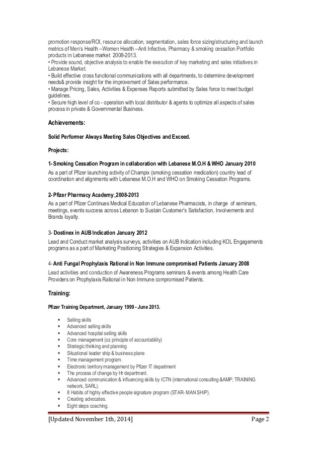 khaled elhage cv document updated November 2014