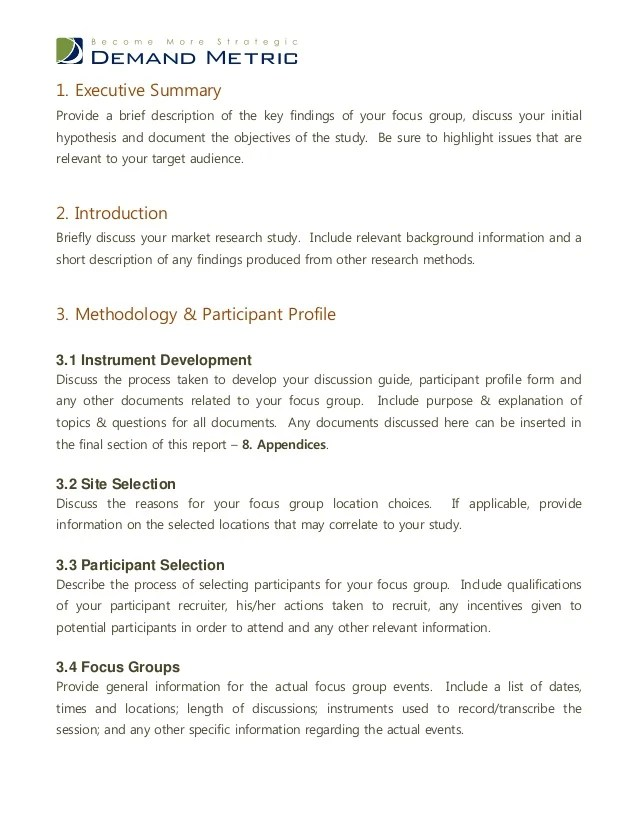 template for summary report - Onwebioinnovate - summary report template