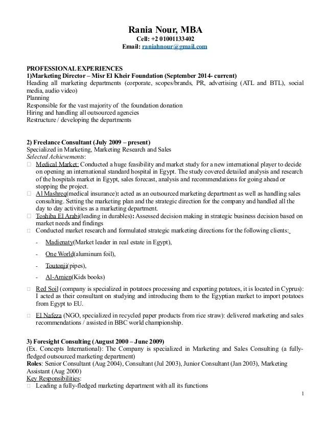 marketing consultant resume - Romeolandinez