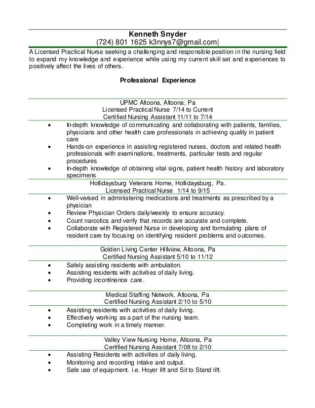 new lpn resume - Holaklonec