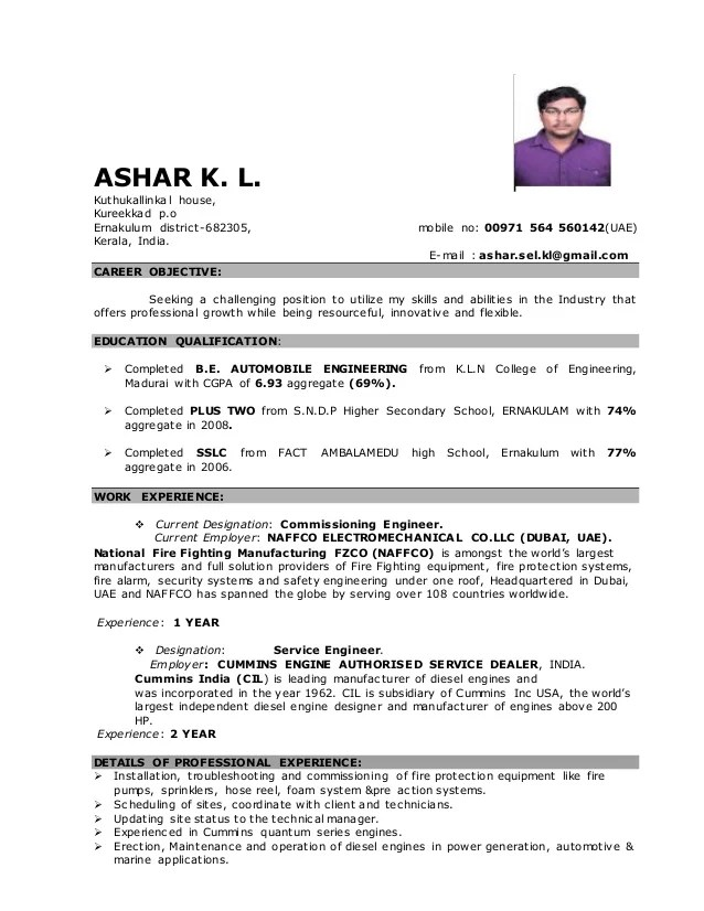 fire alarm system engineer resume - Romeolandinez