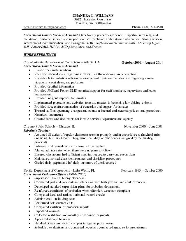 Parole Probation Officer Sample Resume Gracecollege