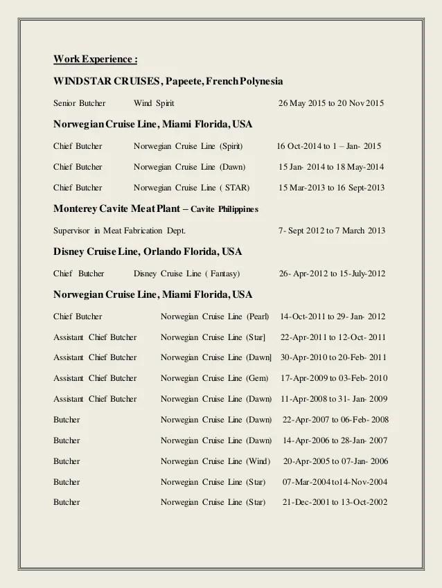 Meat Cutter Job Description Resume Images - free resume templates