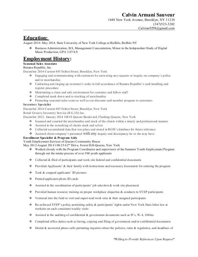 banana republic sales associate duties - Alannoscrapleftbehind - sample resume for sales associate