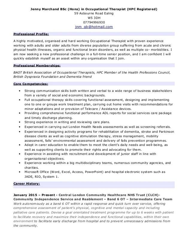 ot resume examples - Josemulinohouse - occupational therapist resume