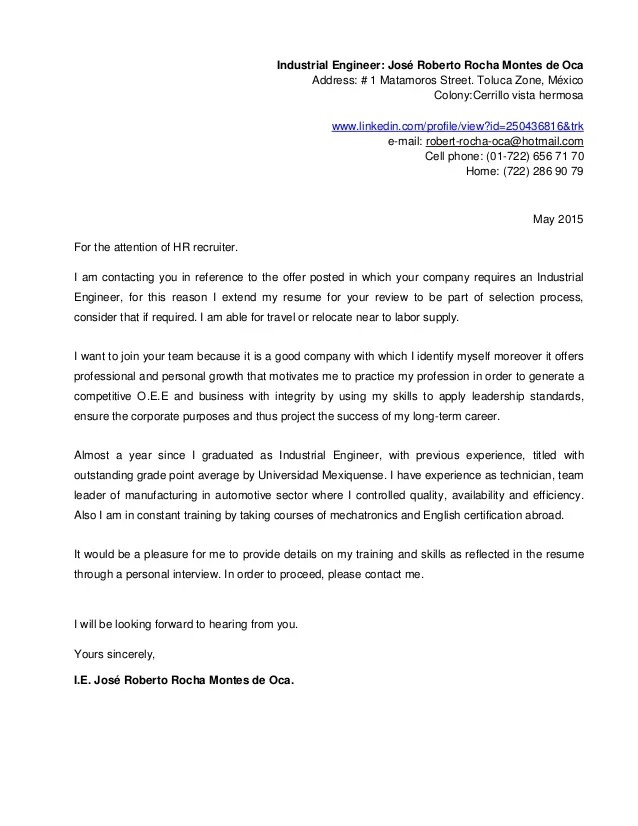 Cover Letter Address To Professional Resume Cv Maker