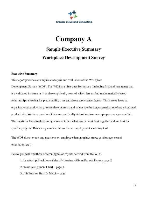 writing an executive summary for a report - Canreklonec