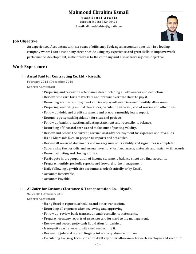 cv accountant english