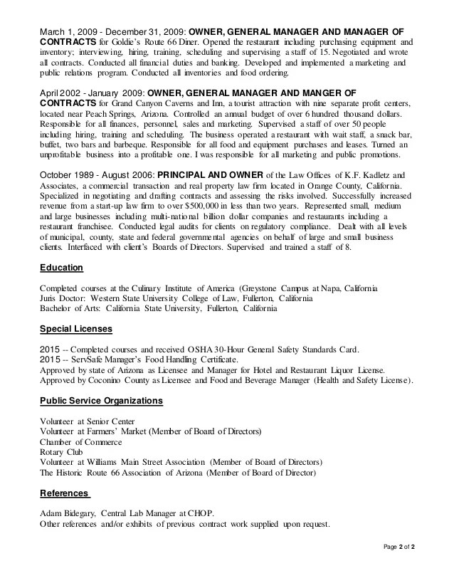 contract manager resume - Apmayssconstruction