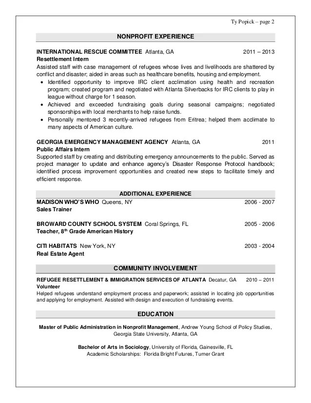Emergency Management Resume cvfreepro