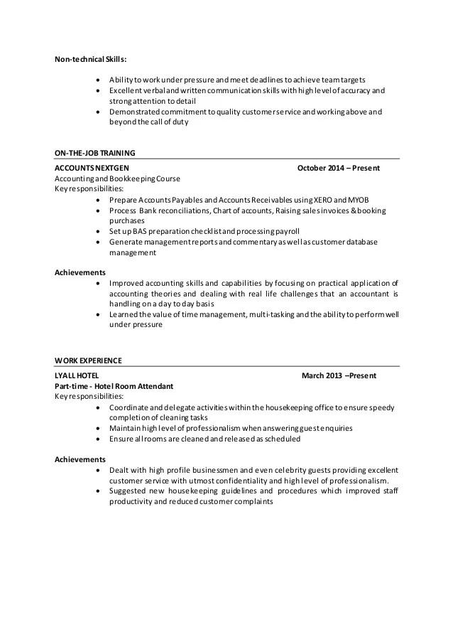 accounting skills resumes - Pinarkubkireklamowe