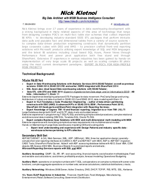 business objects architect resume - Thevillas - healthcare architect sample resume