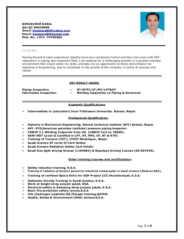 Piping Inspector Resume piping inspector resume sales inspector