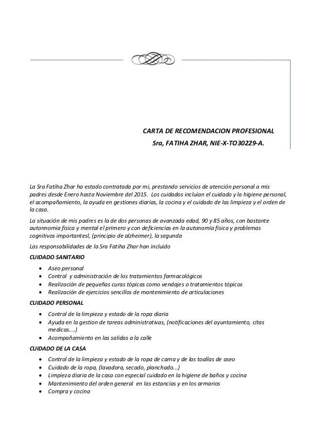 Carta De Recomendacion Profesional kicksneakers
