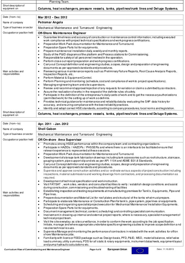 cv format for qa qc engineer professional resumes example online