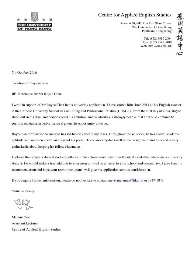 recommendation letter from english teacher - Minimfagency