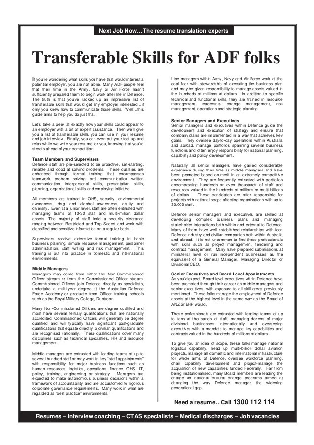resume transferable skills - Ozilalmanoof