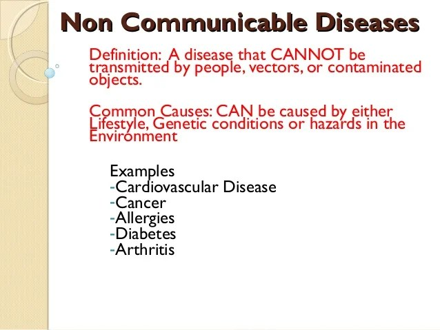 3 non communicable diseases