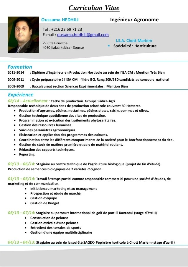 cv mettre photos de profil