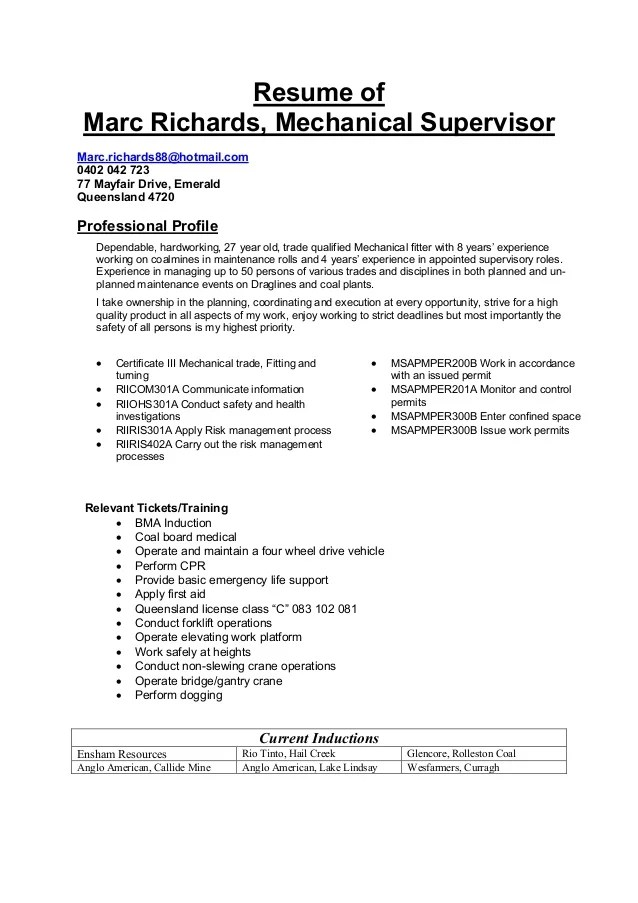 sample transportation maintenance supervisor resumes - Alan - Operations Supervisor Resume