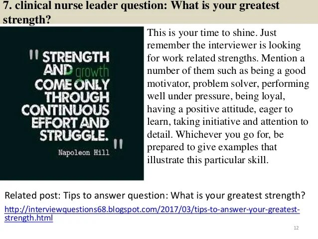 nursing leadership interview questions - Onwebioinnovate