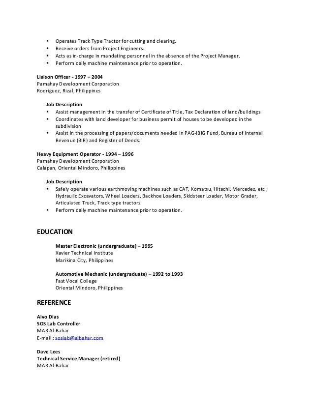 Tractor Mechanic Sample Resume kicksneakers