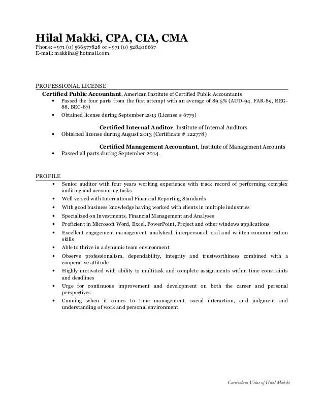 cma resume samples - Pinarkubkireklamowe