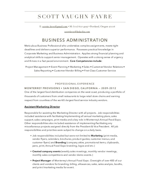 business administrator resumes - Eczasolinf