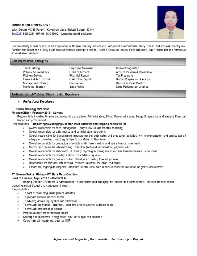 resume references furnished upon request