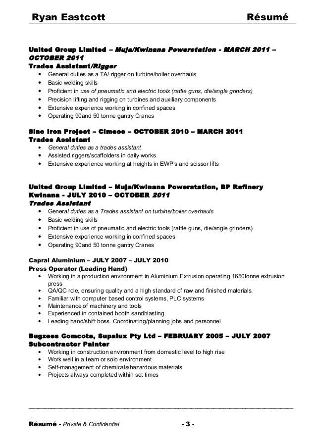 resume services kwinana