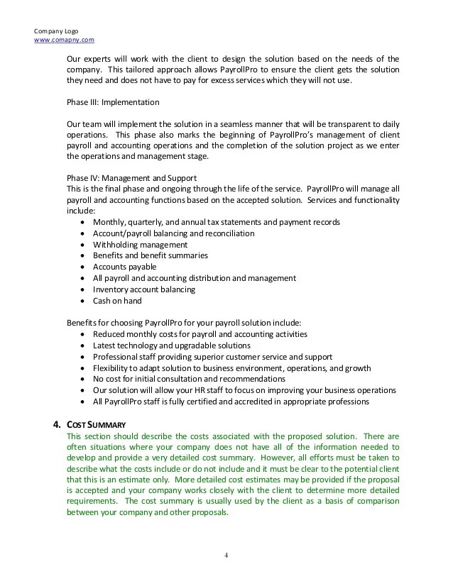 Proposal Software Sample Business Proposals Legal Contracts Consulting Proposal