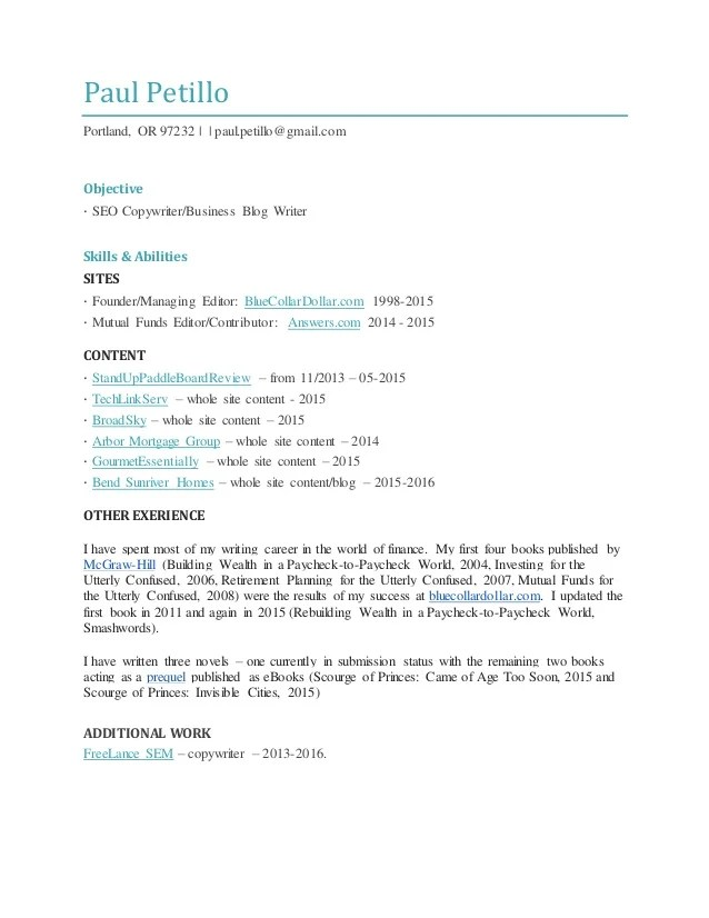Interactive Copywriter Cover Letter Cvresumeunicloudpl