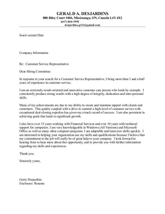 cover letters for customer service representative jobs - Akbagreenw