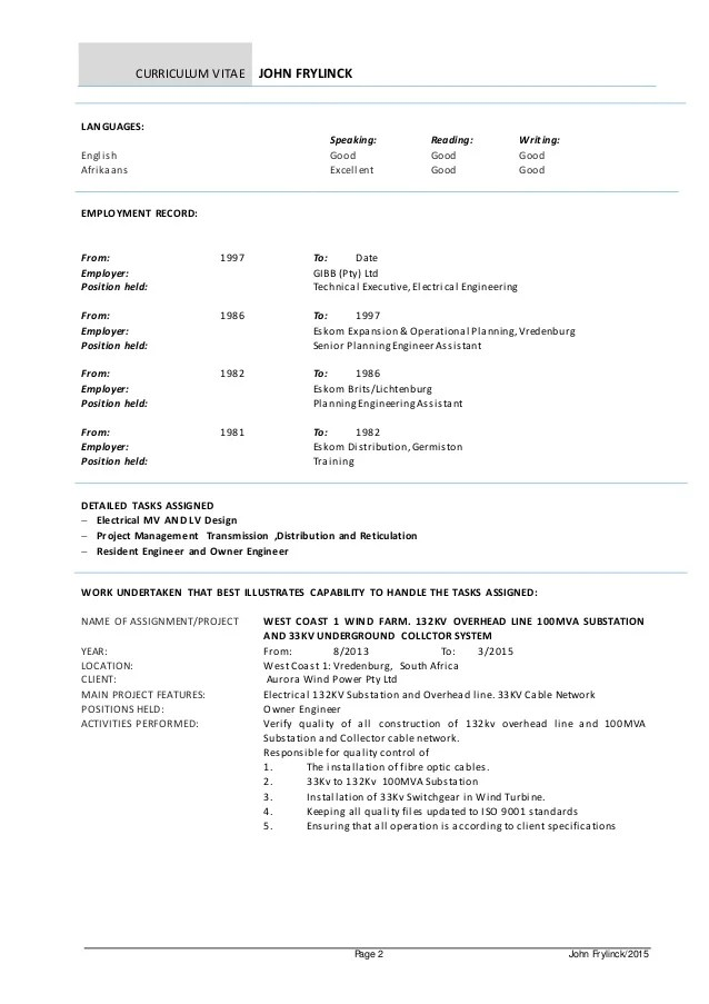 english speaking liaison on a cv