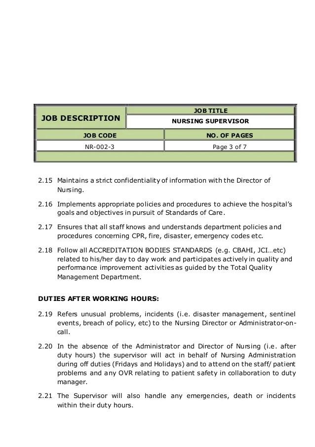 emergency department nurse job description - Minimfagency - nurse job description