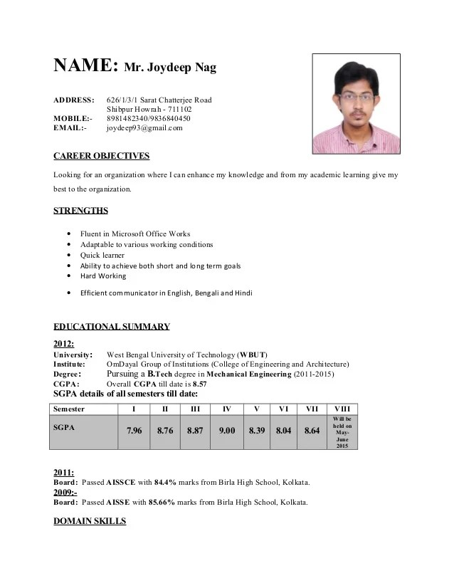Free Sample Resumes Resume Writing Tips Writing A Cv College