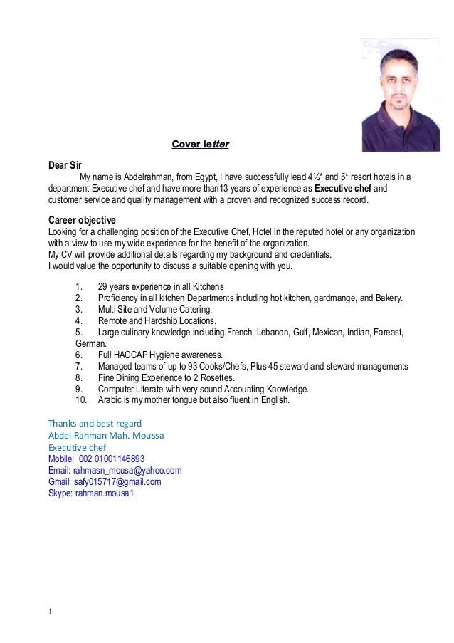 Executive Chef Resum Resume Objective Fabulous Helpbanquet server ...