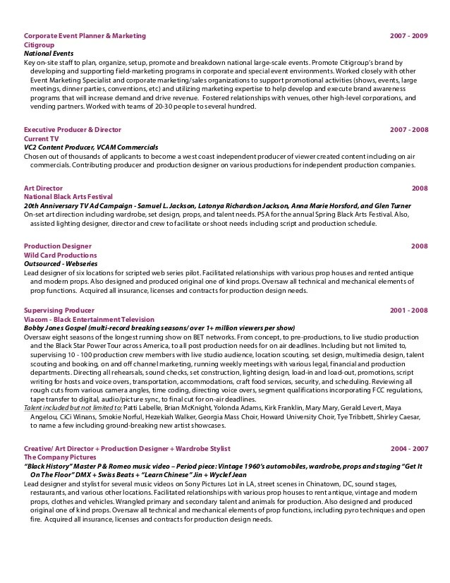 executive producer resume - Josemulinohouse