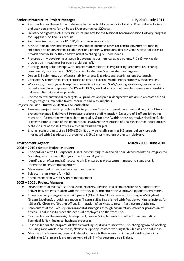 network project manager resumes - Alannoscrapleftbehind